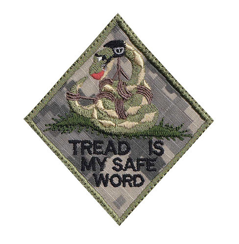 Snake Don't Tread Is My Safe Word Bondage - Velcro Back