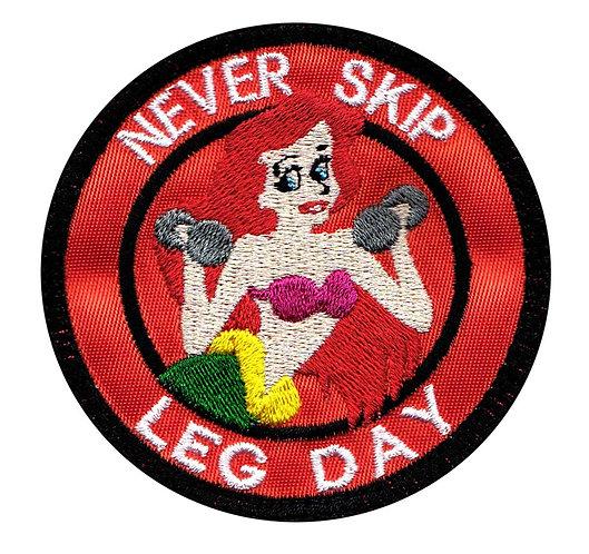Never Skip Leg Day Arial Little Mermaid - Velcro Back