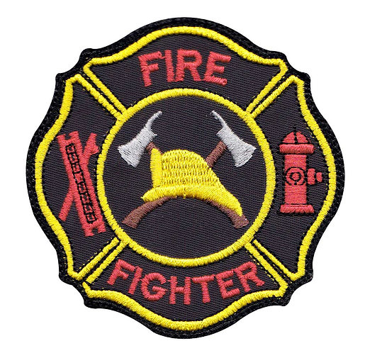 Firefighter Hook Ladder Badge - Velcro Back