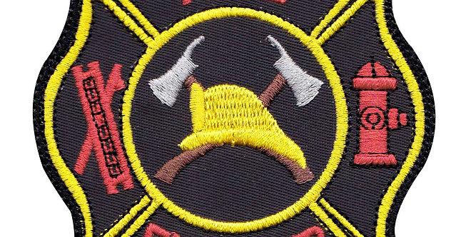 Firefighter Hook Ladder Badge - Velcro Back