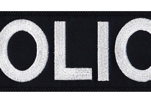 Vest Jacket Police Name Plate Id Tag - Glue Back To Sew On