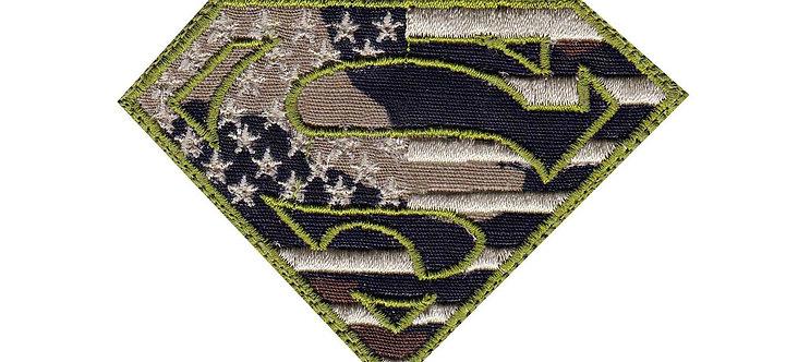 Superman  US Flag Camo - Velcro Back