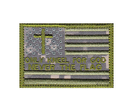 Kneel God Never Flag Us Flag - Velcro Back