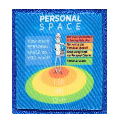 Personal Space Rick And Morty - Velcro Back
