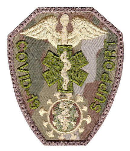 Covid-19 Medical Corona Virus Support Medic Badge - Glue Back To Sew On