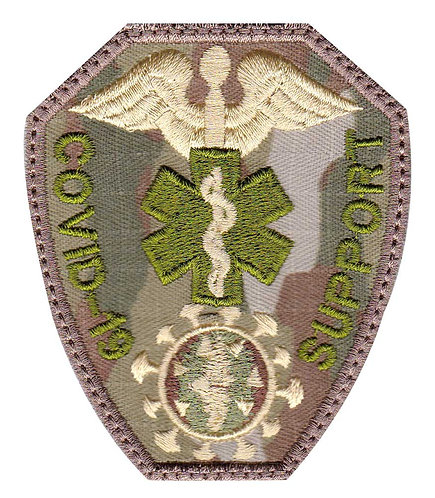 Covid-19 Medical Corona Virus Support Medic Badge - Glue Back To Sew On