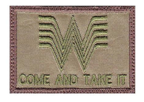 Whataburger Come And Take It Guns - Velcro Back