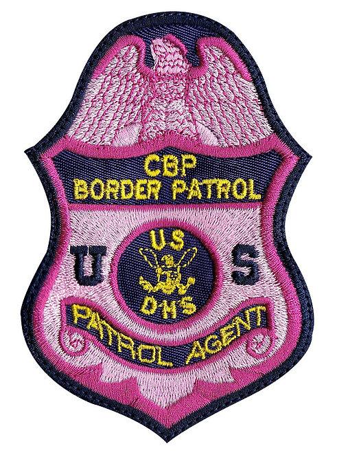Agent Breast Cancer Awareness Customs Border Protection CBP - Velcro Back