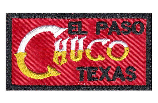 El Paso Texas Chuco - Glue Back To Sew On