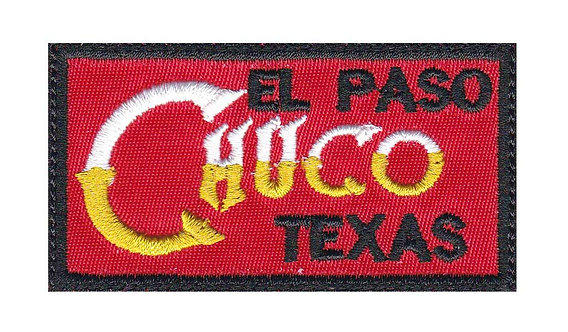 El Paso Texas Chuco - Glue Back To Sew On