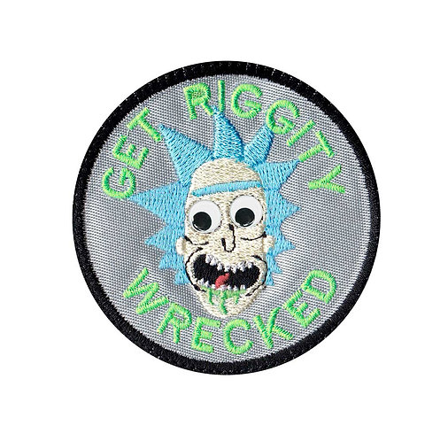 Googly Eye Rick Sanches Morty Riggity Wrecked - Velcro Back