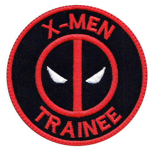 Deadpool X-Men Trainee - Glue Back To Sew On