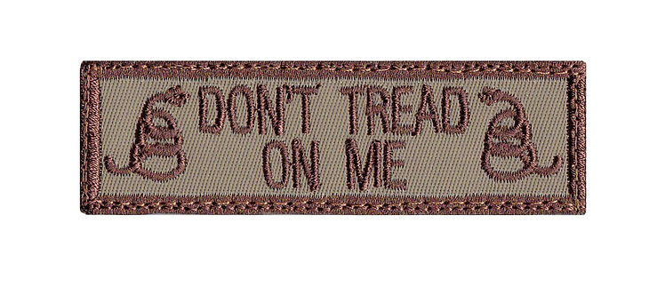 Don't Tread Snake Name Tag - Velcro Back