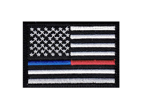 Emergency & Line Us Flag - Velcro Back