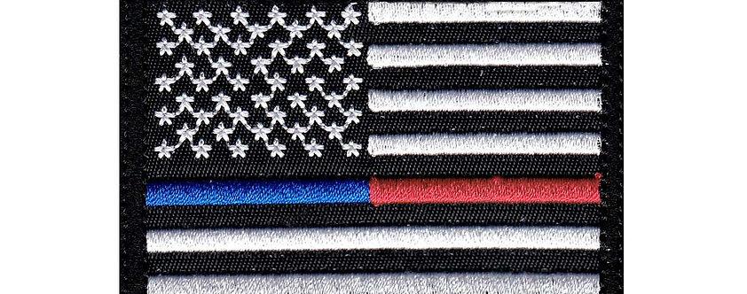 Emergency & Line Us Flag - Velcro Back