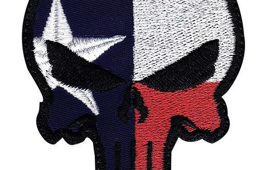 Punisher Skull Texas State Flag - Velcro Back