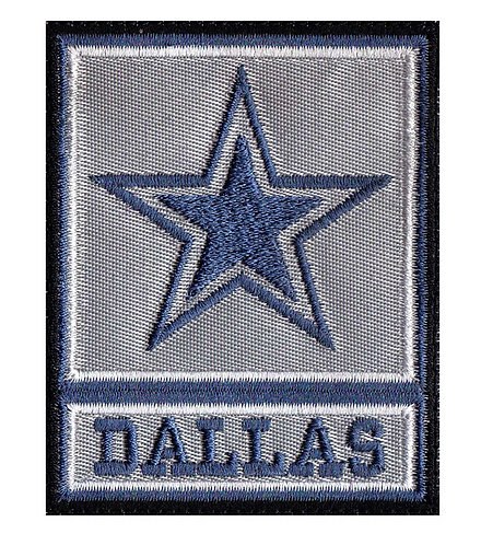 Dallas Army Rank Cowboy Parody - Velcro Back