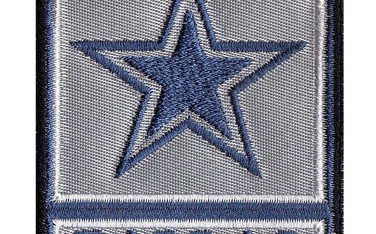 Dallas Army Rank Cowboy Parody - Velcro Back