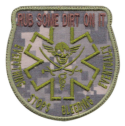 Combat Medic Rub Some Dirt On It Paramedic - Velcro Back