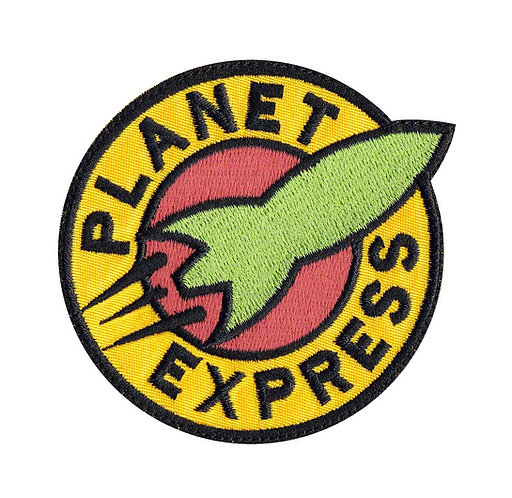 Planet Express Futurama - Glue Back To Sew On