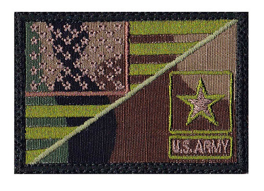 Us Army Star Half Flag - Velcro Back