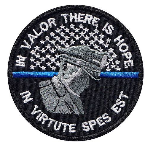 Police Line In Valor There Is Honor Latin - Velcro Back