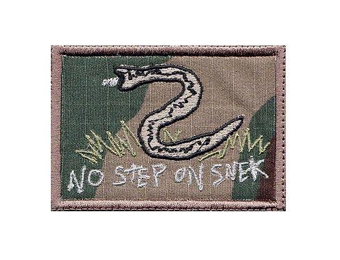 No Step On Snek Don't Tread - Velcro Back