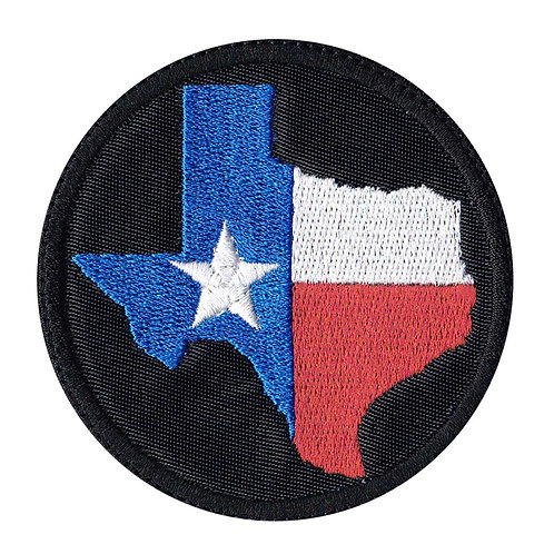 Texas Lone Star Shape - Velcro Back