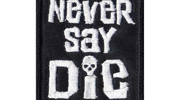 Never Say Die Goonies Skull Pirates - Velcro Back