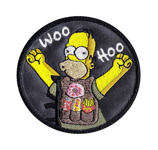Homer Hungry In The Army Simpsons - Velcro Back