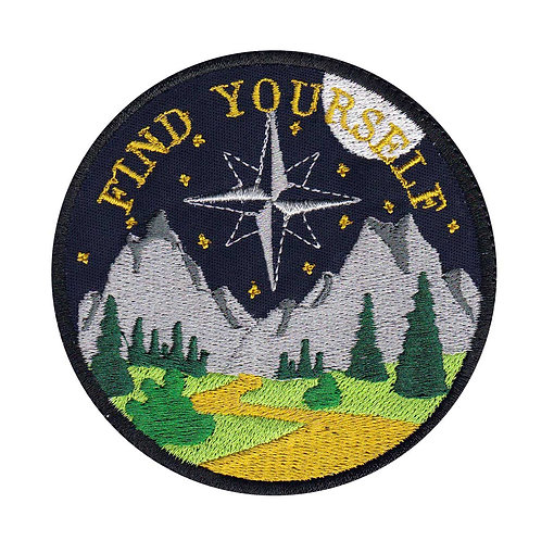Find Yourself Night Hiking Camping Outdoors Exploring - Glue Back To Sew On