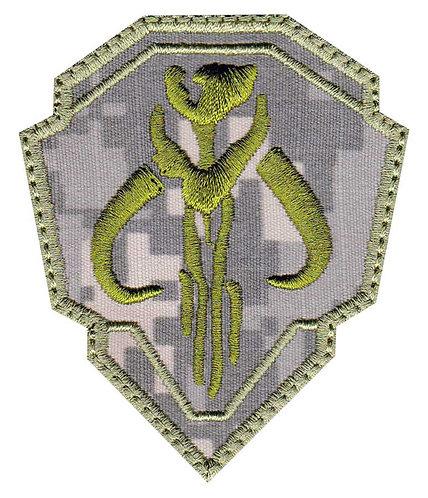 Mandalorian Mythosaur Skull Crest Shield - Velcro Back