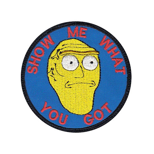 Rick And Morty Show Me What You Got Head - Glue Back To Sew On