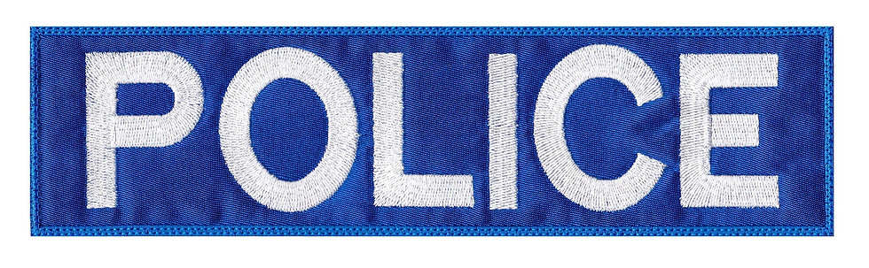 Vest Jacket Police Name Plate Id Tag Cosplay Art - Velcro Back