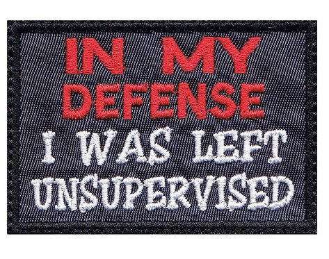 In My Defense I Was Left Unsupervised - Velcro Back