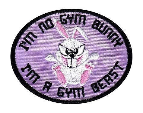 Im No Gym Bunny I'm A Gym Beast - Velcro Back