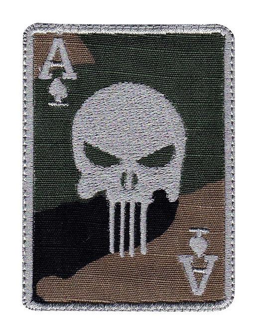 Punisher Skull Ace Card - Velcro Back