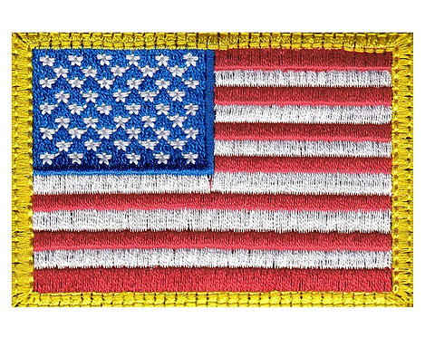 United States Flag Us Flag - Velcro Back