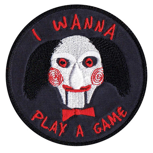 Saw Jigsaw John Kramer Wanna Play A Game Horror Movie - Velcro Back