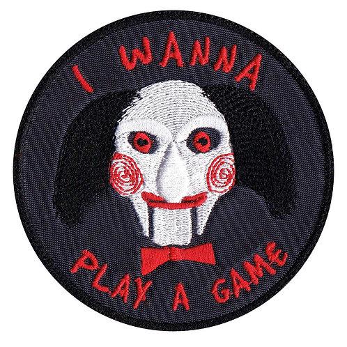 Saw Jigsaw John Kramer Wanna Play A Game Horror Movie - Velcro Back