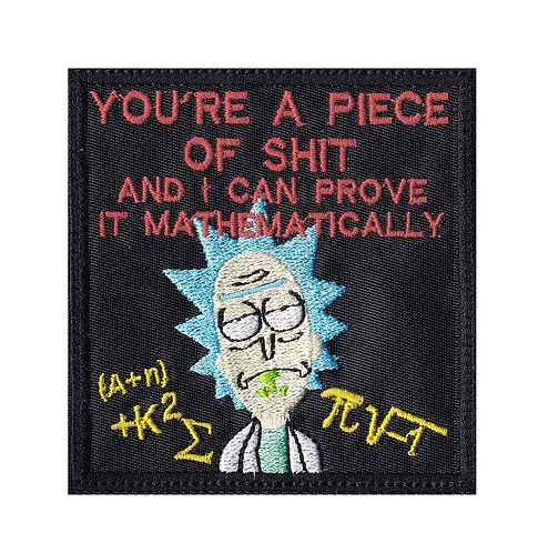 Rick And Morty Piece Mathematically - Glue Back To Sew On