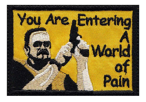 Big Lebowski Walter Entering a World Of Pain - Velcro Back