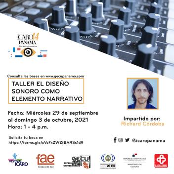 FESTIVAL ICARO PANAMÁ 2021 OFRECE TALLER DE DISEÑO SONORO COMO ELEMENTO NARRATIVO