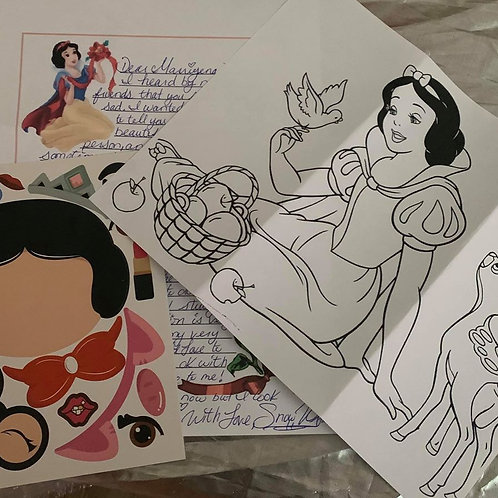3 Pen Pal Letters- Snow White
