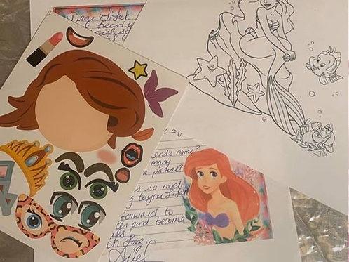 6 Pen Pal Letters- Ariel