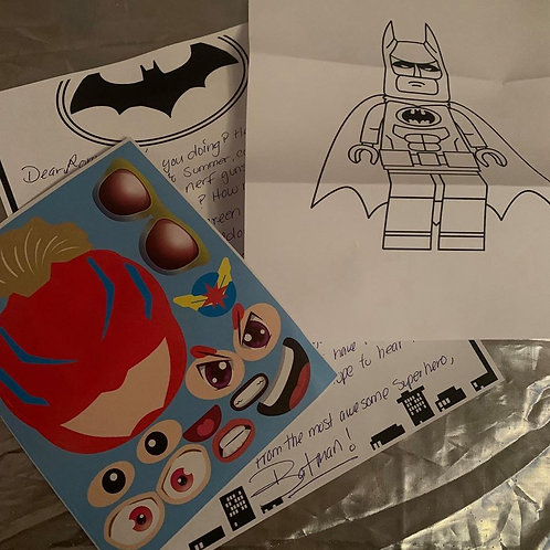 3 Pen Pal Letters- Batman