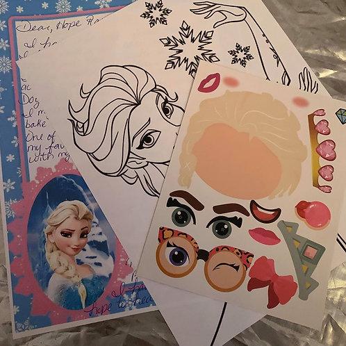 6 Pen Pal Letters- Elsa