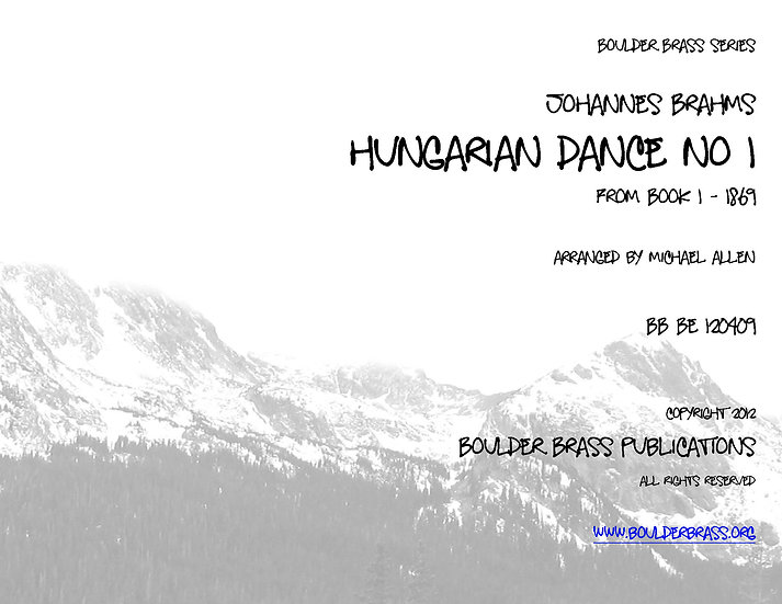 Hungarian Dance No 1