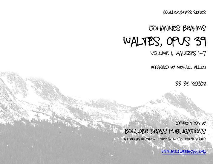 Waltzes, Opus 39 (Volume 1)