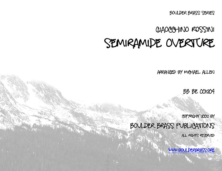 Overture to Semiramide